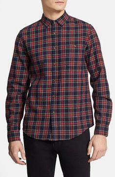 Topman Tartan Flannel Shirt | Nordstrom