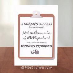 Coach Card Thank You Coach Basketball Coach by BucketListShop