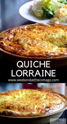 Dairy Free Quiche Lorraine, Best Quiche Lorraine Recipe, Lorraine Recipes, Best Quiche Recipe Ever, Best Quiche Recipes, Crustless Quiche Lorraine, Simple Quiche Recipes, Perfect Quiche Recipe, Basic Quiche Recipe