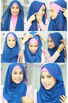 Simple pashmina hijab tutorial can be applied easily. - Hijab Outfit 2020 - Simple pashmina hijab tutorial can be applied easily. You can make … The simple pashmina hijab tu - Hijab Simple, Simple Hijab Tutorial, Hijab Style Tutorial, Hijab Outfit, Hijab Niqab, Mode Hijab, Turban Hijab, Islamic Fashion, Muslim Fashion