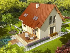 Zdjęcie projektu Adriana III (wersja B) Home Fashion, Shed, Construction, Outdoor Structures, Cabin, House Styles, Home Decor, Building, Decoration Home