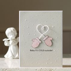 Handmade Glittery Christmas Card £2.40
