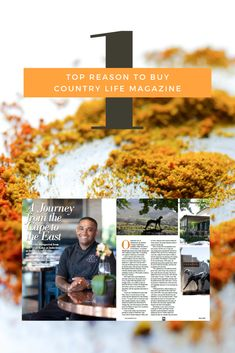 There are 12 reasons to buy the March 2020 issue of South Africa's Country Life magazine. Chef Virgil Kahn of three-plated Indochine restaurant on Delaire Graff Estate being featured is the best reason - a journey from the Cape to the east. Country Life Magazine, Indochine, Top Restaurants, Cape, March, Journey, Hot, Stuff To Buy, Kitchens