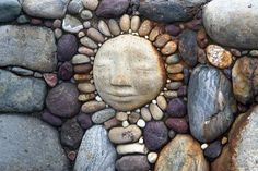 River Rock & Pebble Face in stone wall