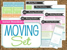 instant download moving planner editable moving printables 8 pdf printable sheets