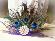 Statement Teal & Peacock Fan Fascinator COMB. by sofisticata