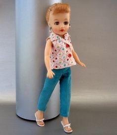 Vtg Uneeda's 10 50'' Tinteen Suzette Fashion Doll 2pc Slacks Outfit | eBay