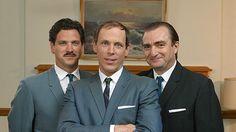 Gary Levert (on the right) in Trudeau, Pierre Elliott Suit Jacket, Breast, Jacket, Suit Jackets