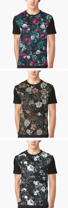 Floral shirts by RIZA PEKER on Redbubble Floral Shirts, Everyday Fashion, Ideias Fashion, Fashion Inspiration, Casual Outfits, Men's Fashion, Handsome, Clothing, T Shirt