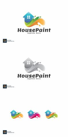 Property Design, House Painting, Logo Templates, Logos, Logo