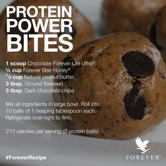 Protein Power Bites using Forever Living Products, Chocolate Forever Lite Ultra and Forever Bee Honey #ForeverRecipe