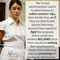 The Republican Argument~Good for the bosses. They need all the money they can get. If employees have to earn less for their bosses new BMW, then the employees should've become millionaires like their boss rather than work at a restaurant.