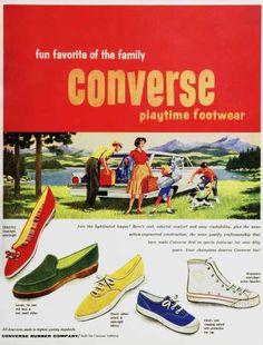 Vintage converse ad from back in the day. Converse look so different now!