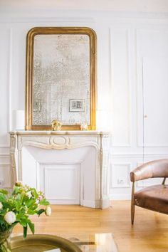 Make a statement with mirrors above your fireplace.