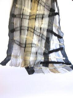 Felted Wool and Woven Silk Scarf from Shopping for a Change