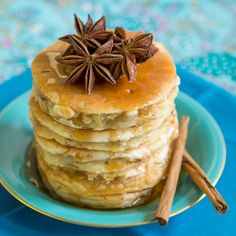 This tasty Buttermilk And 5 Spice Pancakes Recipe is easy to make and has a beautiful warm, aromatic aroma whilst cooking, complemented by a caramel flavour