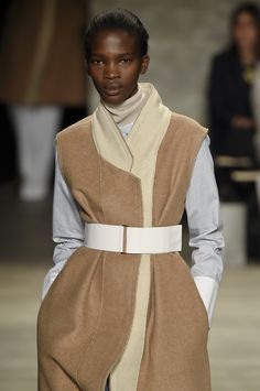 TOME #NYFW #AW15 #NewYork #NewYorkFashionWeek #FashionWeek #Fashion #style #designer #catwalk #womenswear #fall2015 #camel #belt #layers