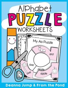 Alphabet Puzzles - fine motor, cutting, gluing and phonics. Use as worksheets or laminate for a center.
