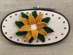 Wool Embroidery Hoop Art Hand Embroidered Flower Hoop Art