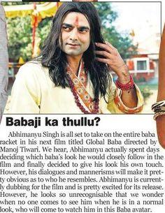 Abhimanyu Singh aka Global baba in Absolute India  Bhakti me hai Dum...#GODFATHER ki kasam !!!!  follow us on Twitter : https://twitter.com/global_baba