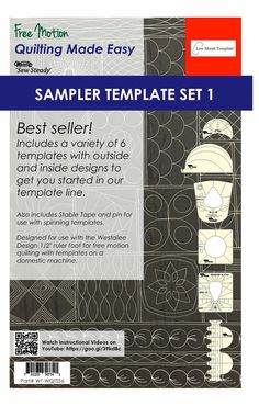 Sew Steady Westalee Wt B2bc Backtoback Circles Template Ruler 4