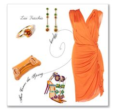 """""""Orange"""" by bv-b ❤ liked on Polyvore featuring Christian Louboutin, Lanvin and Gucci"""