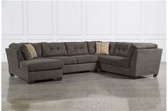 Delta City Steel 3 Piece Sectional W/Sleeper & Left Facing Chaise - Signature