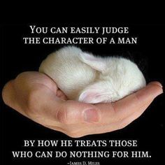You can easily judge the character of a man by how he treats those who can do nothing for him.