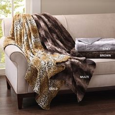 Long Fur Throw for ultra softness and warmth. 50 inches by 60 inches long, is made of soft polyester, machine wash and dry