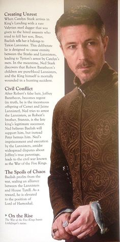 Petyr Baelish in the HBO Game of Thrones Collectors' model magazine.