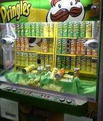 Pringles claw machine