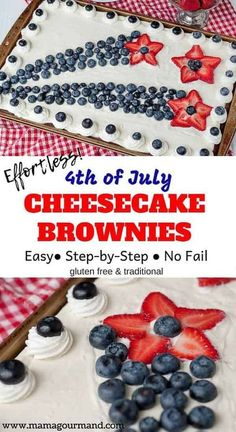 EASY OF JULY BROWNIES - Looking for a creative, red, white, and blue, show-stopping dessert recipe for a of July party? 4th Of July Desserts, Fourth Of July Food, 4th Of July Celebration, 4th Of July Party, Köstliche Desserts, Holiday Desserts, Holiday Baking, Holiday Treats, Holiday Recipes