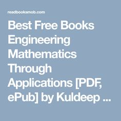 Books download bioprocess engineering principles pdf by pauline m best free books engineering mathematics through applications pdf epub by kuldeep singh complete fandeluxe Choice Image