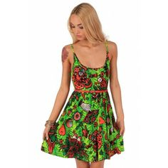 Kokomoan Jersey Dress ❤ Green - Dresses & Skirts