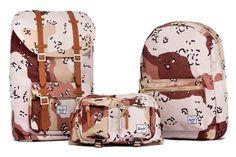 """Herschel Supply Co. 2012 Fall/Winter """"Desert Storm Camo"""" Collection."""