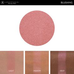 Eye Shadow Singles with skin swatch in the shade Blushing