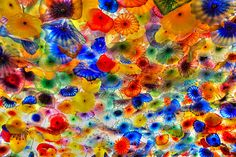 Chihuly displayed in the lobby of the Billagio in Vegas. fiori di como by MatthewPHX, via Flickr