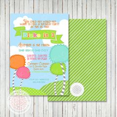 Etsy: Lorax Inspired Printable Birthday Party by PetitePartyStudio.