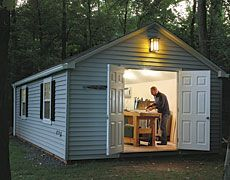 1000 images about workshop tours on pinterest wood for Prefab work shed