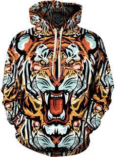 New Brand Sweatshirt Men/Wome Fur Printed Pullover Sweat Homme Mens Hoodies Casual Sportswear Hip Hop Hoodie Men's Sweatshirt Tiger Hoodie, Printed Sweatshirts, Mens Sweatshirts, Streetwear, Hip Hop, Winter Hoodies, Hipster, Long Hoodie, Swagg