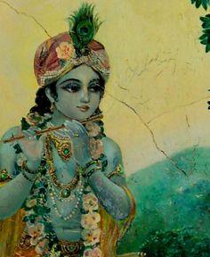Murals of Krishna Balaram Temple, Vrindavan, UP, India Arte Krishna, Krishna Leela, Jai Shree Krishna, Krishna Radha, Krishna Love, Lord Krishna, Shiva, Avatar, Krishna Painting