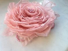 A beautiful, silk Rose perfect for weddings, special occasions or everyday prettiness.  This full Rose has been handmade using layers of 100% silk