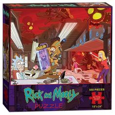 Rick and Morty 550-Piece Puzzle - USAopoly - Rick and Morty - Puzzles at Entertainment Earth