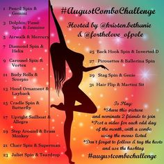 """Instagram: """"⭐⭐NEW POLE CHALLENGE FOR AUGUST!⭐⭐ We hope this will be a fun way to challenge you to learn new…"""""""