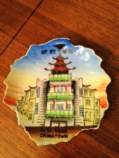 vintage travel souvenir from China Town NY. by Schnigglefritz