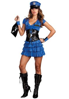 Late Night Patrol Sexy Police Halloween Costume