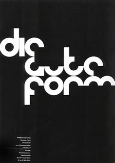 Another renown graphic designer, Armin Hofmann, famous for his Swiss-Style posters with their beautiful utilization of typograp. Graphic Design Posters, Modern Graphic Design, Graphic Design Typography, Graphic Design Inspiration, Graphic Designers, Modern Typography, Contemporary Design, Style International, International Typographic Style