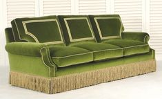 Mitchell Sofa with Trimmings Sofa Furniture, Sofa Chair, Online Furniture, Furniture Design, Couch, Sofa Design, Green Home Decor, Living Room Green, French Decor
