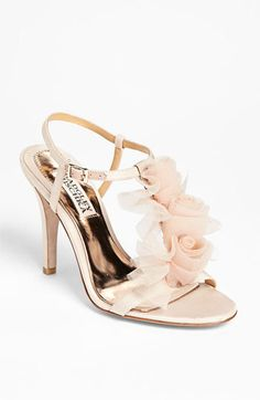 Badgley Mischka 'Cissy' Sandal available at #Nordstroms. I love this dainty & oh so feminine heel. On sale $145.00
