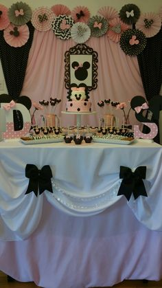 Elegant Minnie Mouse Birthday Party